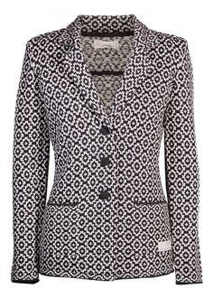 Odd Molly Blazer sort mønstret - Flawless Blazer 816M-103 almost black – Acorns