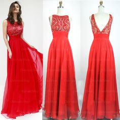 Red prom dress,lace prom dress,long a-line prom dress,sleeveless prom dress,beautiful evening dress,dresses for prom,PD190340