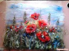 Картинки по запросу цветы валяние