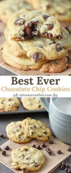 Chocolate Chip Cookies are my favorite dessert, and this easy recipe is the best. Chocolate Chip Cookies are my favorite dessert, and this easy recipe is the best chocolate chip cookie recipe ever! Make homemade chewy cookies from s. Chewy Chocolate Chip Cookies, Chocolate Cookie Recipes, Chocolate Desserts, Cholate Chip Cookies, Christmas Chocolate Chip Cookies, Perfect Chocolate Chip Cookies, Chocolate Biscuits, Chocolate Brownies, Cookie Recipes From Scratch