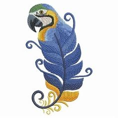 Bird Feathers 2, 8 - 3 Sizes! | What's New | Machine Embroidery Designs | SWAKembroidery.com Ace Points Embroidery