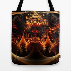 Fractal Design Underworld Tote Bag by Fine2art - $22.00