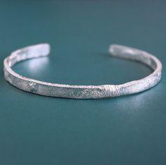 Sterling Silver Cuff Bracelet, Silver Bangle Bracelets, Bracelets For Men, Silver Man, Jewelry Making, Detail, Unique, Rustic, Products