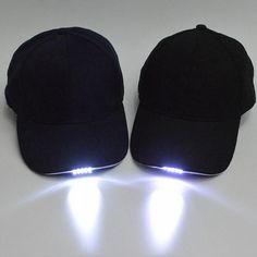 85e2d9e57b0b65 1Pcs LED Light Caps with Battery Glow in Dark Light Up Hats Caps Luminous Holiday  Hat