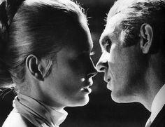 1968. Faye Dunaway and Steve McQueen.