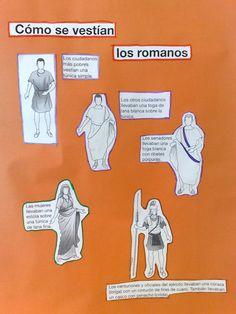 Las manualidades de mis niños: ¿como vestian lor romanos?