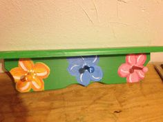 Hand painted shelf