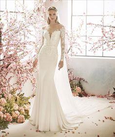 La Sposa Wedding Dresses, Rustic Wedding Dresses, Princess Wedding Dresses, Wedding Dress Styles, Boho Wedding Dress, Bridal Gowns, Mermaid Wedding, Illusion Dress, Grace Loves Lace