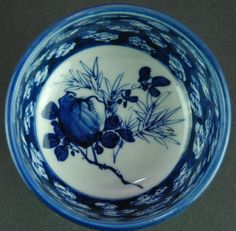 Japanese Antique 19th c Imari Blue and White Compote/ Tea Ceremony