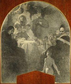 Alphonse Mucha - 'Accept Love and Enthusiasm from Your Son, Mother of the Holy Nation': study for the mural 'By Own Strength III' at the Lord Mayor's Hall, Obecní Dům, Prague (1910-1911)