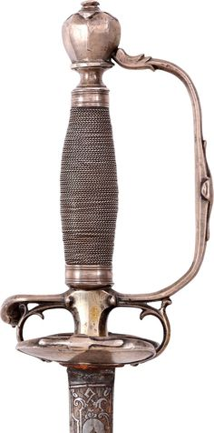 A FINE FRENCH SILVER HILTED SMALLSWORD C.1720