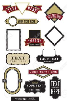 Set Of 12 Logo Designs. Great For Labels, Menus, Invitations,.. Royalty Free Cliparts, Vectors, And Stock Illustration. Image 11243560.