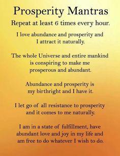 Prosperity Mantras http://www.lawofatractions.com/creativity-test-will-open-your-mind/ #MindsetSayings