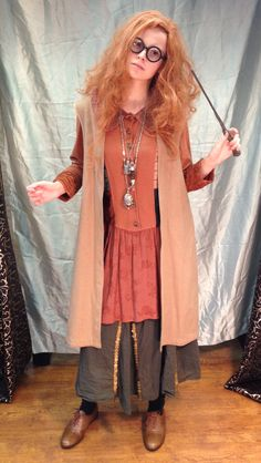 Harry Potter Universe Costume Idead, Hogwarts Professor Sybill Trelawney Costume: Harry Potter's Birthday Celebration and Book Release @ Barnes & Noble, Arlington TX, July 30th 2016