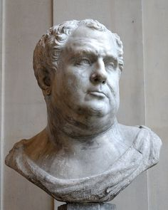Emperor Vitellius, 15-69 A.D. was Roman Emperor for eight months, from 16 April to 22 December 69. Vitellius was proclaimed emperor following the quick succession of the previous emperors Galba and Otho, in a year of civil war known as the Year of the Four Emperors. Italian artwork of the first half of the 16th century, modern copy of an antique head of the Hadrianic era in the Grimani Collection in Venice, once thought to represent the emperor Vitellius.