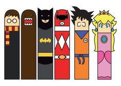 Superheroes Paper Bookmarks