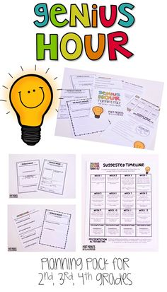 Teach Your Child to Read - Genius Hour in Elementary! Planning for the perfect in second, third and fourth grade (it's not as easy as it sounds!) - Give Your Child a Head Start, and.Pave the Way for a Bright, Successful Future. Genius Hour, Inquiry Based Learning, Project Based Learning, Early Learning, Upper Elementary, Elementary Schools, Third Grade, Fourth Grade, Grade 2