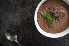 The quickest healthy dessert!  #avocado #chocolate #healthydessert #mousse #chocolatemousse #avocadochocolatemousse #dessert Healthy Dessert Recipes, New Recipes, Delicious Desserts, Mousse, Whole Roasted Cauliflower, Peanut Butter Smoothie, Latest Recipe, Healthy Alternatives, Cravings