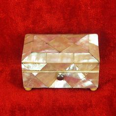Mother of Pearl Shell Needle Pack Box England c1850
