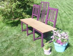Chair to Bench DIY Projects