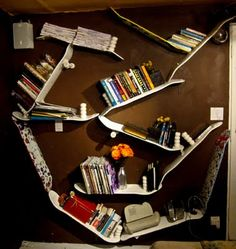 This is a good idea for a shelf in Billy's room.