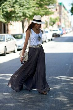 jupe longue en boho style