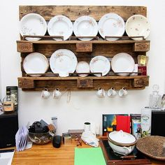 #pallet #kitchen #shelves