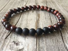 Men gemstone bracelet stretch stacking bracelet door KennlyDesign