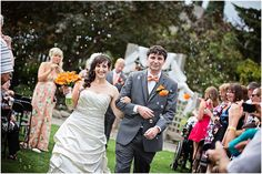 Wedding Ceremony | Blowing Bubbles | Walking down the Isle | Guests blowing bubbles | Candid