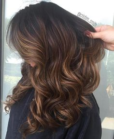 Brown Hair with Honey Blonde Ribbons
