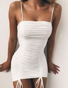 Nice 100 Ideas of Short Summer Dresses To Look Hot Club Outfits For Women, Teenage Outfits, Mode Outfits, Clothes For Women, Cute Casual Outfits, Sexy Outfits, Dress Outfits, Casual Dresses, Fashion Outfits