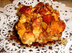 Apple and Sausage French Toast Casserole with Cinnamon Syrup