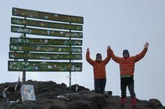 Thomson Safaris' guests, Dan and Vicki McNicoll at the summit!