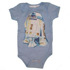This might be JUST what someone out there is looking for...on Pinterest...R2D2 Star Wars Onesie by Jill and Jack