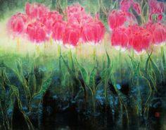 Zhang Weimin(张 伟民 Chinese, b.1955)    Pinky Tulip    浮香(2)