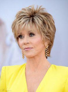 Jane Fonda Hairstyles, Short Shag Hairstyles, Short Layered Haircuts, Mom Hairstyles, Short Hairstyles For Women, Hairstyle Ideas, Hairstyles Pictures, Short Haircuts Over 50, Hot Haircuts