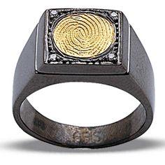 Pırlanta 18 Ayar Altın Gümüş Parmak İzi Yüzük Audreanna, özel tasarım, altın yüzük, hediye