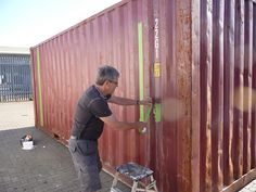 Prepping the shipping container by JerseyArtsTrust, via Flickr
