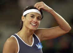 Gabriella Sabatini, a former professional Aregentine tennis player, who was one of the top players on the women's circuit in the late-1980s and early-1990s. Description from peakperformancetheblog.blogspot.com. I searched for this on bing.com/images
