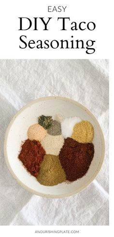 This DIY taco seasoning is made with a blend of simple everyday spices. Out with the old store-bought packets and in with homemade, especially when it's this easy! #diyrecipes #healthyrecipes Diy Taco Seasoning, Taco Seasoning Packet, Homemade Popcorn, Homemade Tacos, Southwest Quinoa Salad, Dairy Free Cookies, Simple Blog, How To Dry Oregano, Baking Tips
