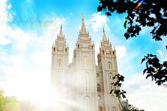 Salt Lake Temple.. I took this exact pic yesterday with the sun a little higher! Gorgeous:)