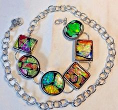 CHICOu0027S Dichroic Glass Chain BELT OS One Size To 38u201d #Chicos