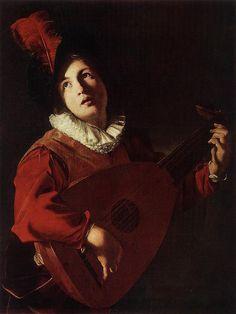 Bartolomeo Manfredi - Joueur de luth - Bartolomeo Manfredi - Viquipèdia, l'enciclopèdia lliure
