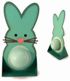 Silhouette Design Store - View Design #76508: bunny tummy lip balm standing card