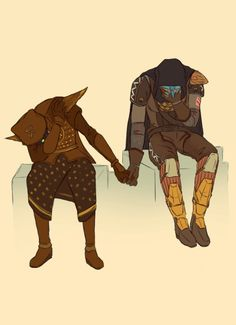 Cayde-6 and Eris Morn learning to get along
