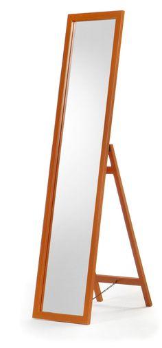 Espejo de pie de madera , color naranja: Amazon.es: Hogar