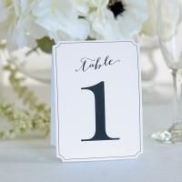 Ornate White Table Numbers 1 thru 12