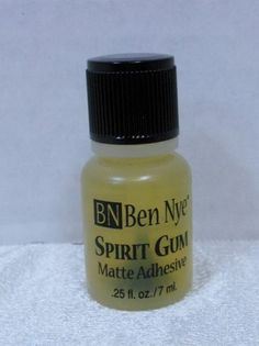 Spirit Gum Adhesive by Ben Nye is a skin safe glue that dries to a flat finish and holds lace beards, mustaches, hair pieces and prosthetic appliance firmly in place. Simply apply spirit gum, tap ligh                                                                                                                                                                                 More