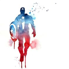 Captain America! Watercolour