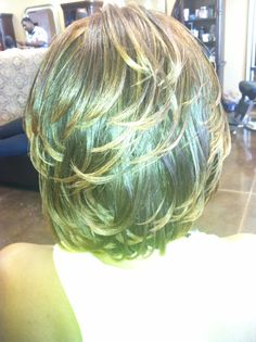 Permanent hair color with streaks and thermal style Facebook.com/citygirls